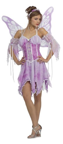 Secret Wishes Sexy Butterfly Costume, Purple, Small