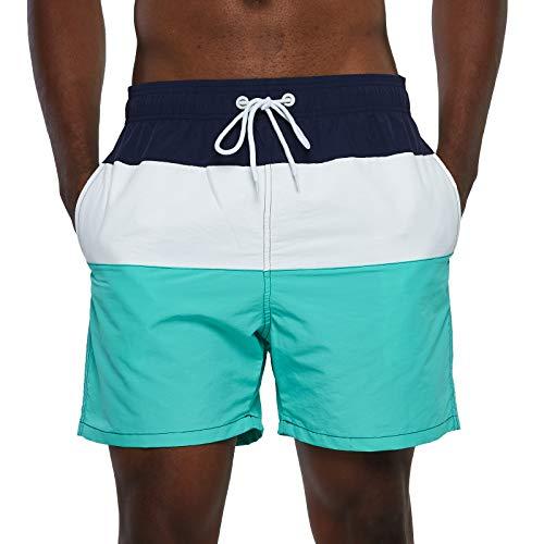 SILKWORLD Men's Swim Trunks Quick Dry Beach Shorts with Pockets