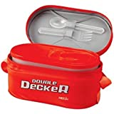 Milton Double Decker 3 Cont Lunch Box, Red (EC-SOF-FST-0013_Red)