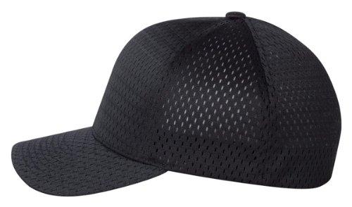 - Flexfit Hat 6777 Athletic Mesh Baseball Cap (Black)