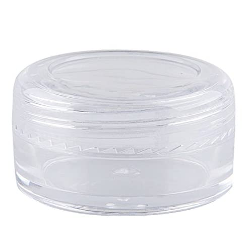 Bekith 108 set Clear Empty 5 Gram Plastic Pot Jars, Cosmetic Containers With Lids