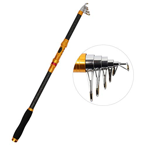 - iOutdoor Products Telescopic Fishing Rod 4 Sections 12Feet Longest, Fishing Pole Super Hard Portable Spinning Rod Fast Action Baitcaster for Freshwater Saltwater