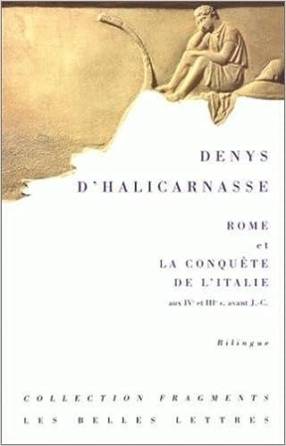 Rome et la conquête de l'Italie (IVe-IIIe siècles) : Antiquités romaines, Livres XIV à XX pdf, epub ebook