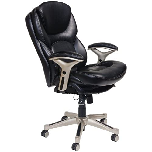 Serta Works Ergonomic Executive Office Chair with Back in Motion Technology Black Bonded Leather  sc 1 st  Amazon.com & Office Chairs for Bad Backs: Amazon.com