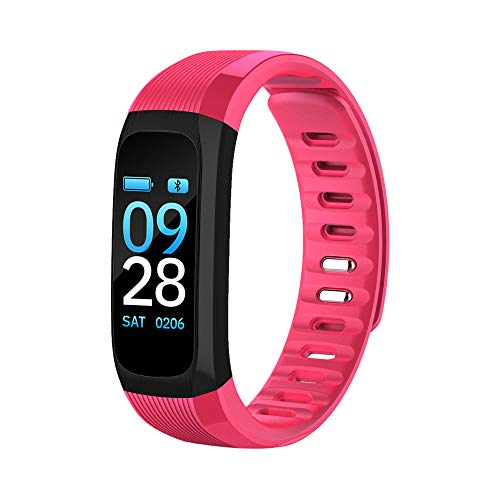 Price comparison product image UP9 Health Monitoring Watch, Women Soft Fitness Wrist Band, Kids Colorful Outdoor Safe Smart Bracelet Strips (Pink)