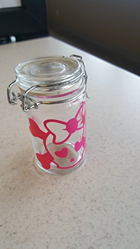 Pink Skull w/ Bow Airtight Stash Jar | - Tall Bongs For Smoking Weed