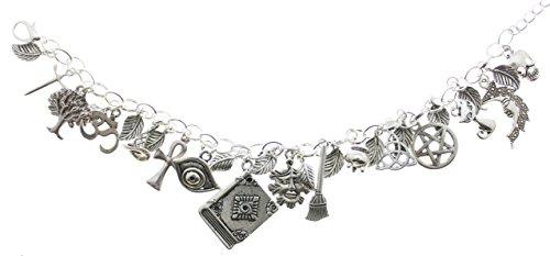 Argent Bracelet à breloques Wicca Avbeads