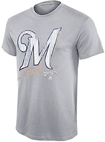 VF Milwaukee Brewers MLB Majestic Mens Takin' Em to School Shirt Gray Heather Big & Tall Sizes – DiZiSports Store
