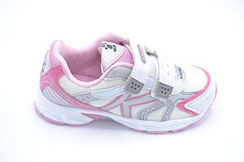 Kelme Zoe rosa - Zapatilla deportiva running con velcro para niña.