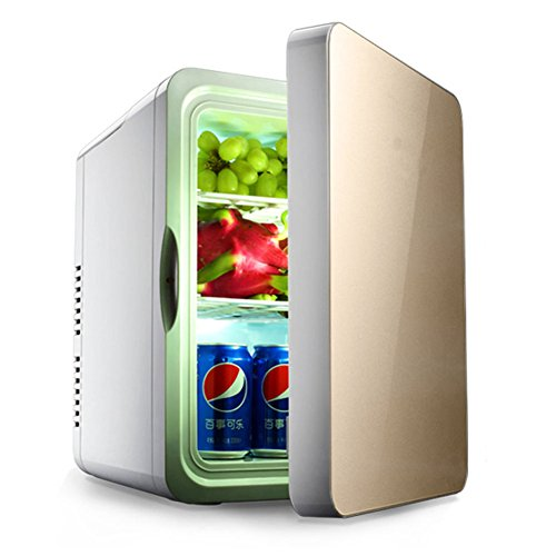 DULPLAY Car Refrigeration Mini fridge,22l Beverage cooler For home, Office and car Single door Mini compACt refrigerator-A 48x35x45cm(19x14x18inch) ()