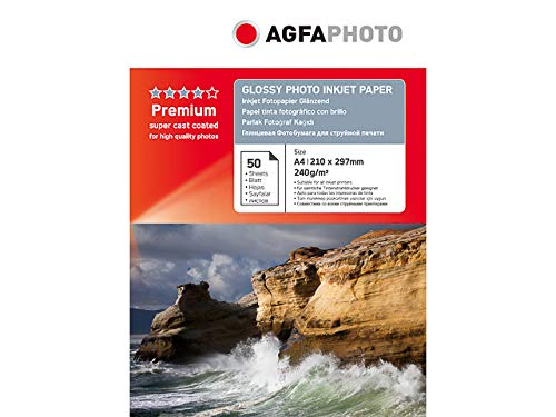 AgfaPhoto AP24050A4 Inkjet Photo Paper A4 50 Sheets 240 g Glossy