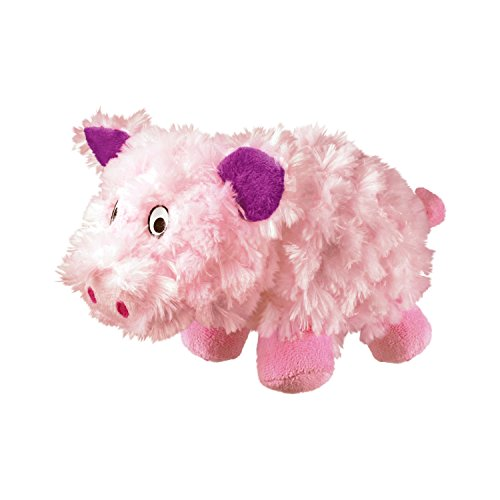 KONG Barnyard Cruncheez Pig Toy, Large - Dog Toy Plush Toys Rattle