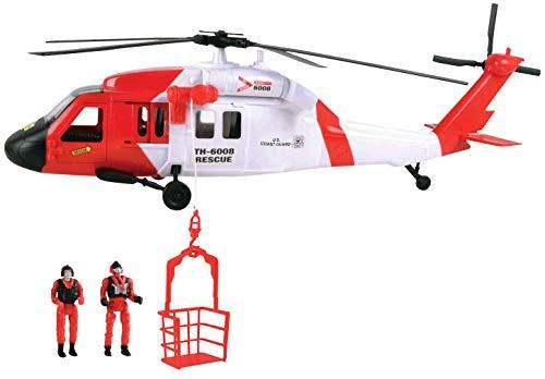 (Motormax Giant USCG Black Hawk Helicopter Playset)
