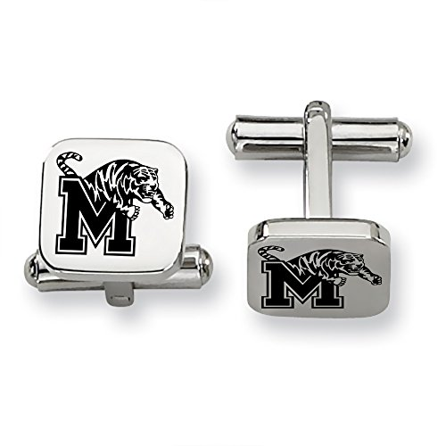 Memphis Tigers Stainless Steel Square Cufflinks