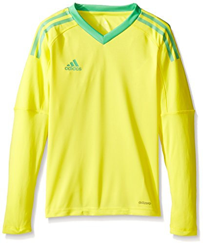 - adidas Youth Soccer Revigo 17 Goalkeeper Jersey, Bright Yellow/Energy Green, Large