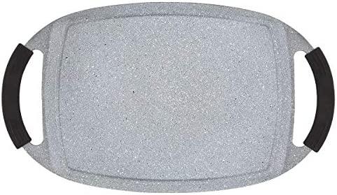 Menax - Plancha de Asar - Aluminio Fundido Indeformable - 47 x 28 cm