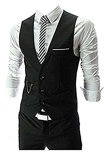 Zicac Men's Top Designed Casual Slim Fit Skinny Dress Vest Waistcoat