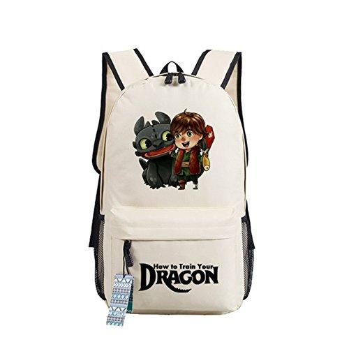 AUGYUESS Korean Canvas School Bag Rucksack Daypack Bookbag Laptop Bag Backpack (Beige 1)