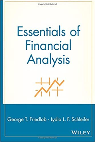 AmazonCom Essentials Of Financial Analysis