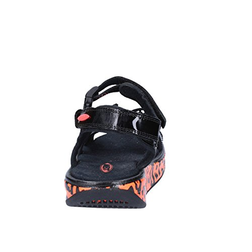 MBT Mujer zapatos con correa Negro Naranja