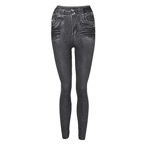 Leggings Imitation Jambires Soldes d'hiver d'automne Gris Fitness Slim Cowboy Haut Taille Femmes Cotton SANFASHION Pantalon et TqxdgT