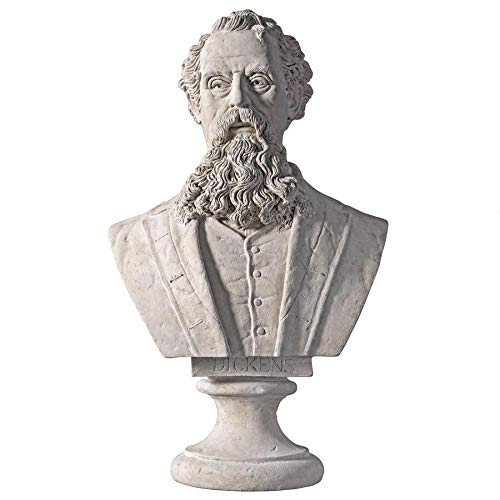 Design Toscano Charles Dickens Sculptural Bust by Design Toscano