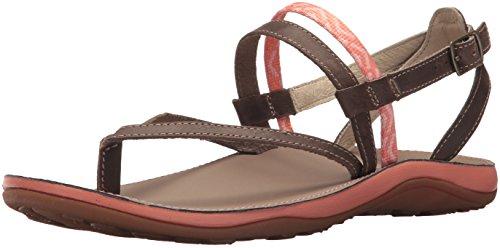 (Chaco Women's Loveland Sandal, Stepped Peach, 8 Medium US)