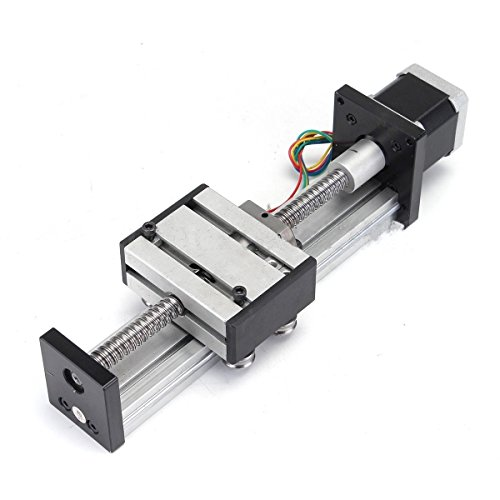 FISTERS Ball Screw Linear CNC Slide Stroke 300mm Travel Length Stage Actuator Stepper Motor (Y-axis Motor)