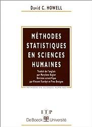 Méthode statistique en sciences humaines
