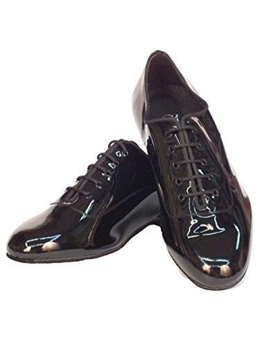 Vitiello Dance Shoes Spettacolo uomo - Zapatillas de danza de Piel para hombre Negro negro Nero Lucido