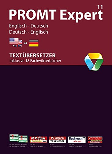 PROMT Expert 11 Englisch-Deutsch: Übersetzungssoftware Englisch <-> Deutsch für Übersetzer und Übersetzungsbüros. Arbeitsoptimierung, automatische Ergänzung der TM-Datenbanken mit den Übersetzungsergebnissen, Wörterbuch-Erstellung, Glossar-Import, Microsoft® Office Integration