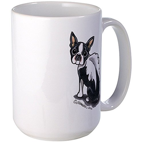 CafePress - Boston Terrier Angel Large Mug - Coffee Mug, Large 15 oz. White Coffee - Large Mug Angel