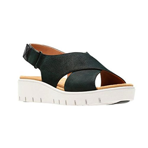 Clarks Womens Un Karely Hail Black Nubuck