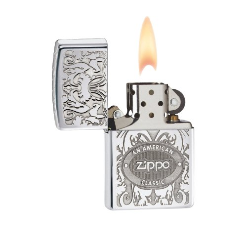 Zippo Crown Stamp with American Classic Lighter, Personalized, Free Engraving On Back!