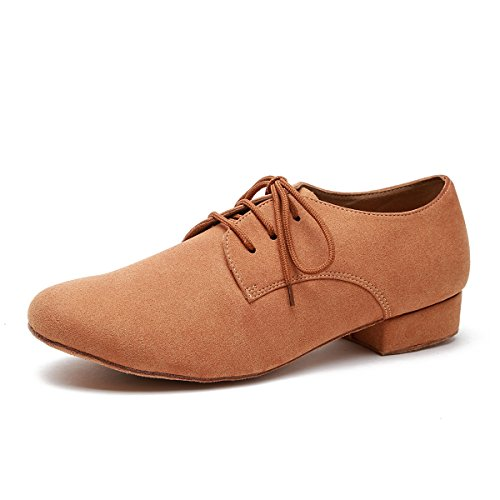 Minishion Mens Fashion Standard Blonder-up Semsket Latin Medorn Ballroom  Dans Sko Lys Tan-
