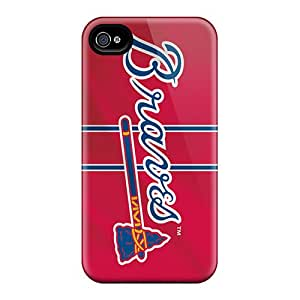 Premium [IBG1411LtQh]atlanta Braves Case For Iphone 4/4s- Eco-friendly Packaging