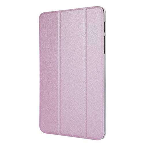 QUICATCH Compatible with Samsung Galaxy Tab A SM-P200/P205 8.0 inch Case 2019 New Hard TPU Tablet Case Slim Cover with Auto Sleep/Wake(Pink)