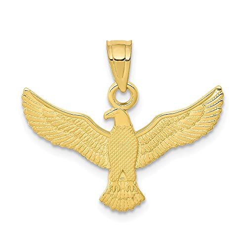 Solid 10k Yellow Gold Eagle Pendant Charm (21mm x ()