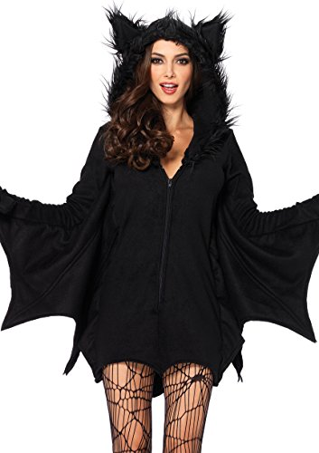 Leg Avenue Women's Cozy Black Bat Halloween Costume, Small ()
