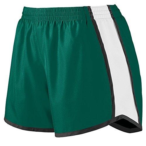 - Augusta Sportswear Womens Junior Fit Pulse Team Short, Dark Green/White/Black, Small
