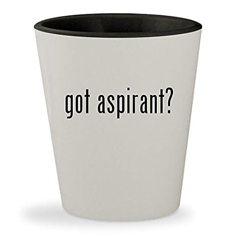 got aspirant? - White Outer & Black Inner Ceramic 1.5oz Shot Glass (Nautilus Aspire Tank Glass)