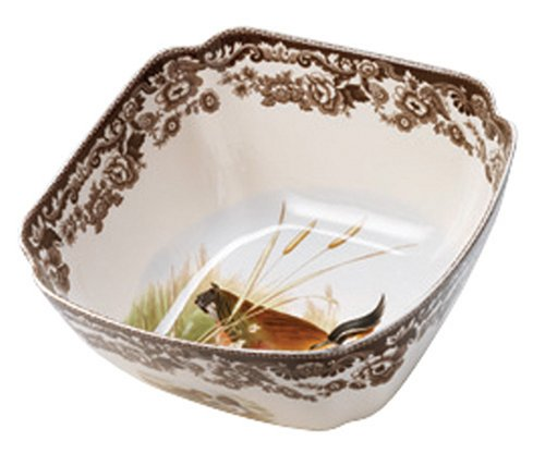 Spode Woodland Quail and Lapwing Square Bowl