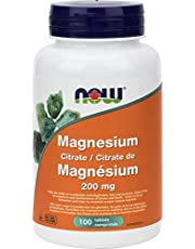 Now Magnesium Citrate 200mg Tablets, 100 Count