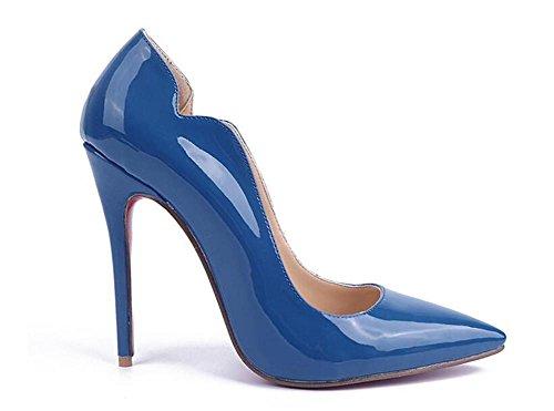 Blue Alto Zapato 38 Alto Zapatos para Alto Pintura XIE de de de Piel 41 BLUE Mujer Tacón Zapatos de Azul Tacón Tacón Tacón de de Alto q1B4xUZ