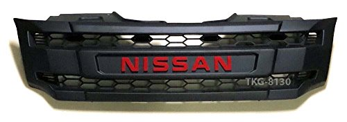 L.E.D LED Front Grille Grill Red Logo Cover Trim For Nissan Navara Frontier NP300 Pickup 2014 2015 2016 2017 V.3