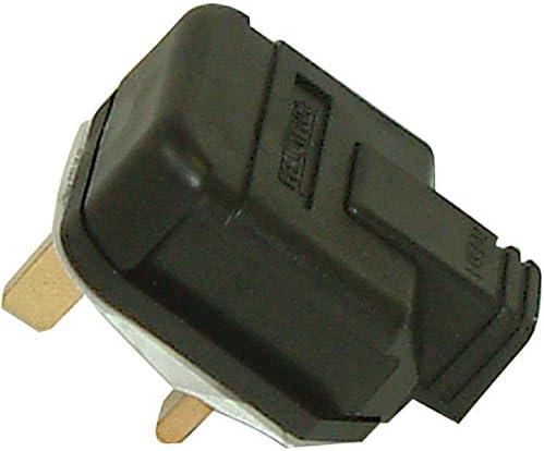 NEW White Permaplug  230V UK 3 Pin Heavy Duty Rubber Body Rewirable Plug 5 Amp