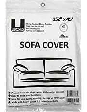 """uBoxes Furniture Sofa / Couch Cover Protects During Moving 152"""" x 45"""""""