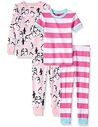 4-Piece Snug-Fit Cotton Pajama Set