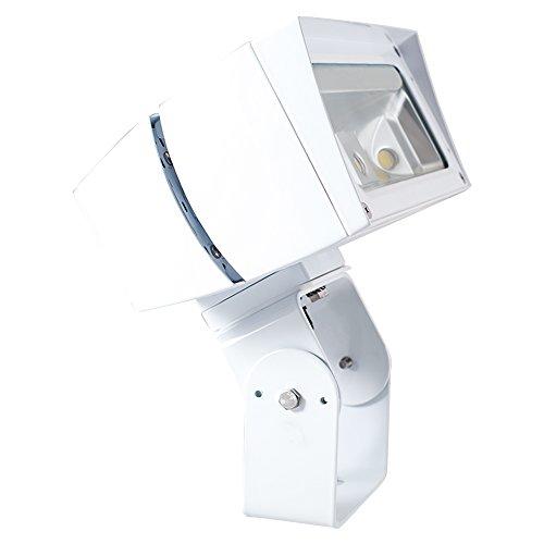 39w Halide Metal Floodlight (RAB Lighting FFLED39TNW/480/PCS4 FFLED 39W LED Floodlight, 4000 K (Neutral) Color Temp, Trunnion Mounted, Standard Type, White Finish)