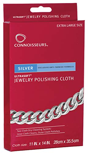 CONNOISSEURS Silver Polishing Cloth Jewelry - Silver Ring Old Jewellery Double